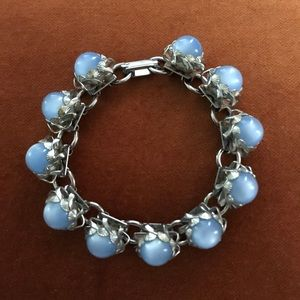 Vintage Blue Glass Bracelet